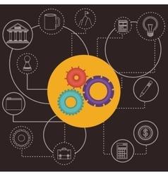 Business world design vector