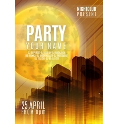 Night party - flyer or cover design background vector
