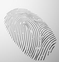 Fingerprint human stock vector