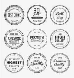 Vintage quality stamp vector