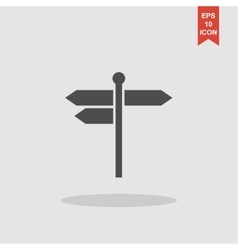 Signpost icon flat design style vector