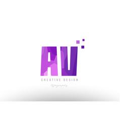 Av a v pink alphabet letter logo combination with vector