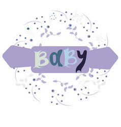 baby card or cover collection of templates vector image vector image