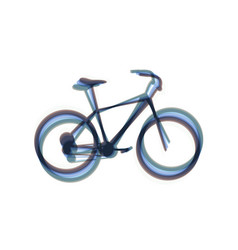 Bicycle bike sign colorful icon shaked vector