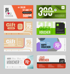 big voucher discount template set vector image vector image
