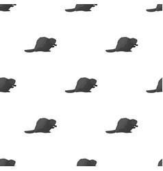 Canadian beaver canada single icon in monochrome vector