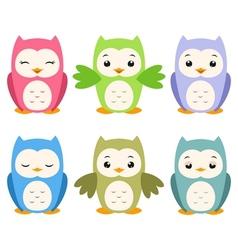 Cartoon Owls vector image vector image