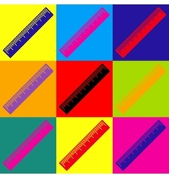 Centimeter ruler sign vector image vector image