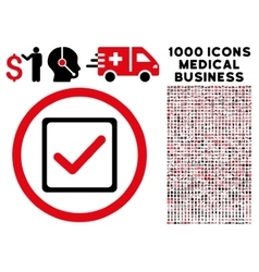 Checkbox rounded icon with medical bonus vector