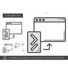 Code update line icon vector
