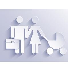 couple icon background Eps10 vector image