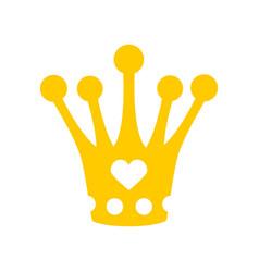 Crown for little princess royal hat diadem vector