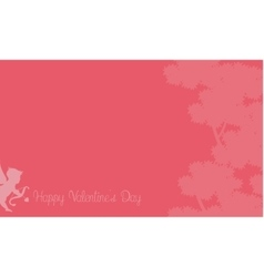 cupid with tree backgrounds vector image vector image