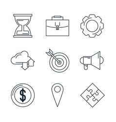 digital marketing icons vector image vector image