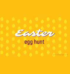 Easter egg hunt card seamless pattern vector