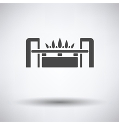 Gas burner icon vector image vector image