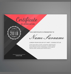 Geometric certificate design in modern style vector