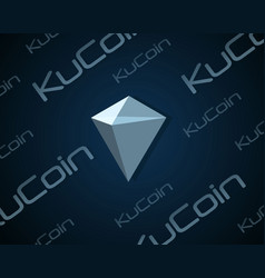 ku coin blockchain background design vector image