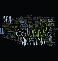 Let s associate with funny stuff text background vector
