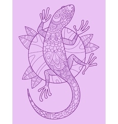 Lizard color drawing vector