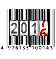 New Year 2017 counter barcode vector image vector image