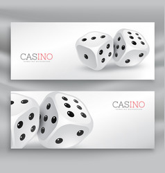 Playing dice banners set vector