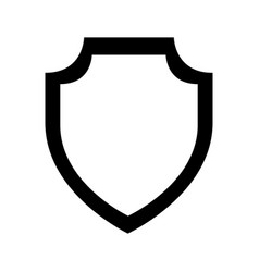 Shield emblem isolated icon vector