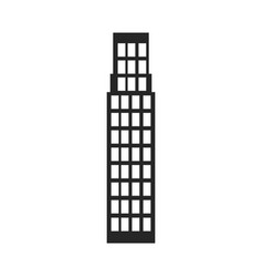 Silhouette monochrome of building skyscraper vector