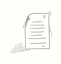 Sketched my document desktop icon vector image vector image