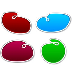 Sling notification paper shapes vector