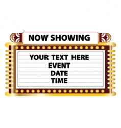 theater marquee sign vector image vector image