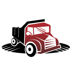 Truck pickup logo template vector