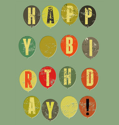Typographical retro grunge birthday card vector