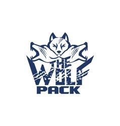 Wolf pack grunge retro vector