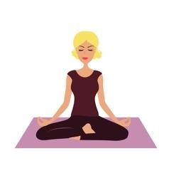 Cartoon Girl in yoga position vector image