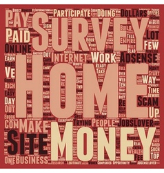 Work from home for dollars text background vector