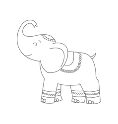 Elephant for coloring book vector image