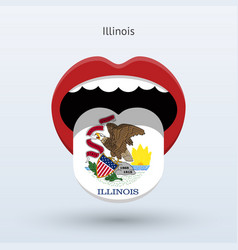 Electoral vote of illinois abstract mouth vector