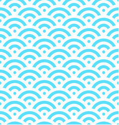 Blue fish scale background of concentric circles vector