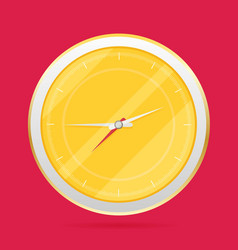 Picture of round analog clock face watch vector