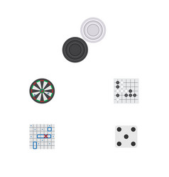 Flat icon play set of gomoku backgammon arrow vector