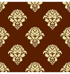 Seamless baroque styled foliage pattern vector