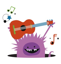 Monster with guitar vector