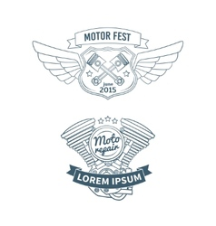 Set of biker badges vector