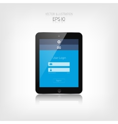 Responsive web design adaptive user interface vector