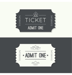 Entry ticket to old vintage style vector