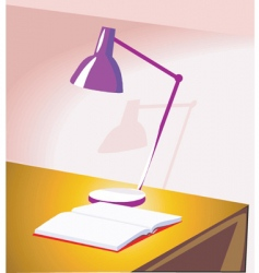 Table lamp vector