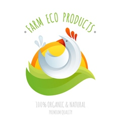 Farm chicken symbol icon vector