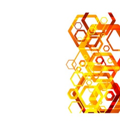 hexahodron abstract vector image
