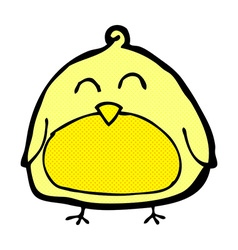 Funny comic cartoon bird vector